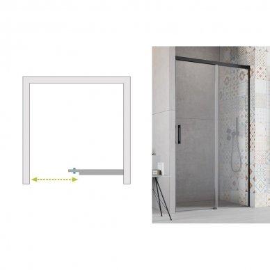 Dušo durys Radaway Idea Black DWJ (dydžių pasirinkimas) 6