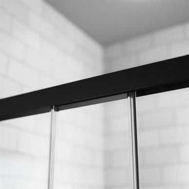 Dušo durys Radaway Idea Black DWJ (dydžių pasirinkimas) 5