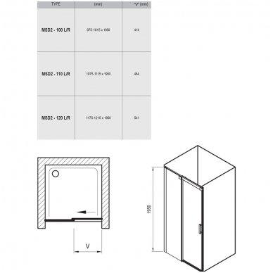 Dušo durys Ravak Matrix MSD2 7