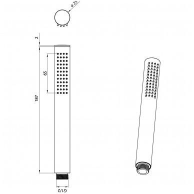 Dušo galvutė Omnires Micro-R 2