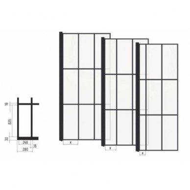 Dušo kabina Baltijos Brasta KRISTINA Nero Cube su skaidriu stiklu, 90x90x200cm 3