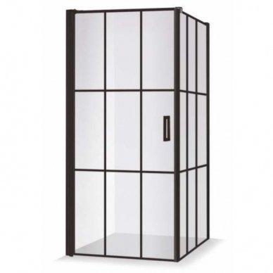Dušo kabina Baltijos Brasta KRISTINA Nero Cube su skaidriu stiklu, 90x90x200cm 2