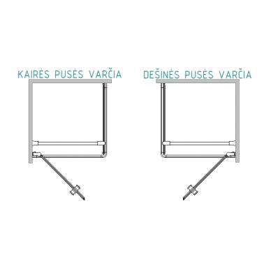 Dušo kabina Baltijos Brasta KRISTINA Nero Frame su skaidriu stiklu (dydžių pasirinkimas) 2