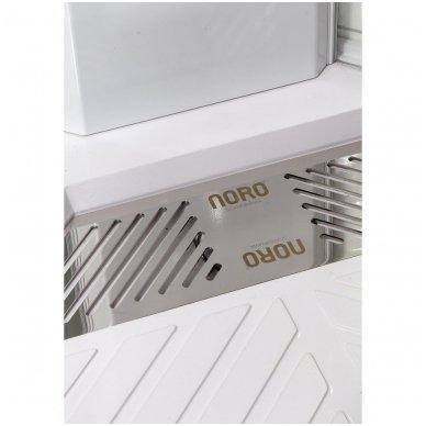 Dušo kabina-boksas Noro Wave su termostatiniu maišytuvu, 90x90cm 3
