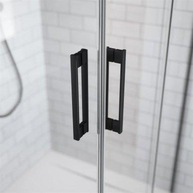 Dušo kabina Radaway Idea Black KDD (dydžių pasirinkimas) 4
