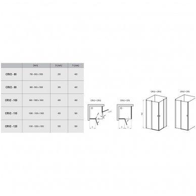 Dušo kabina Ravak Chrome CRV2+CRV2 2