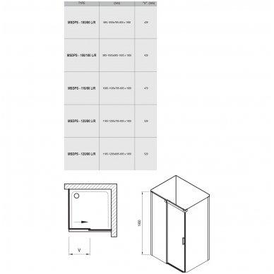Dušo kabina Ravak Matrix MSDPS 9