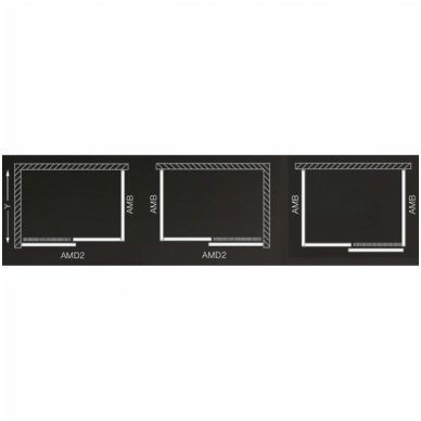 Dušo kabina Roltechnic AMD2+AMB 3