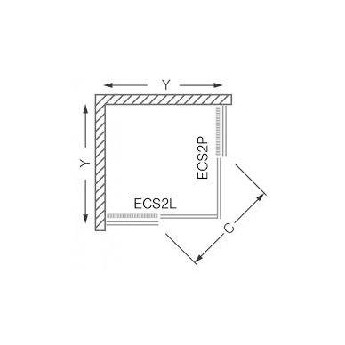 Roltechnik keturkampė dušo kabina ECS2L+ECS2P 2