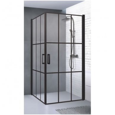 Dušo kabina Baltijos Brasta Viktorija Nero Cube 87,5x87,5 cm