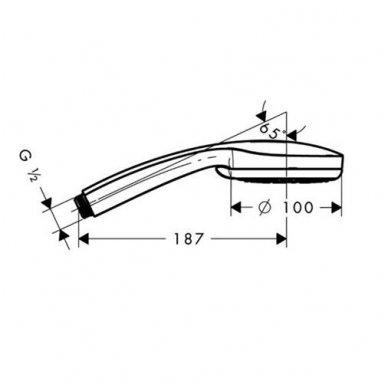 Dušo galvutė Hansgrohe Croma 100 Multi (3 srovių tipai) 2