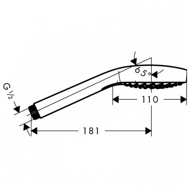 Dušo komplektas Hansgrohe Croma Select E Vario/Porter S 3