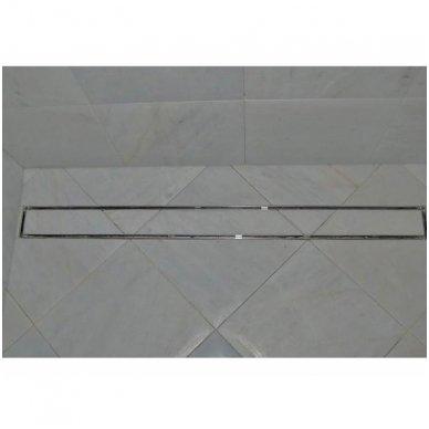 Dušo latakas Aco Tile įklijuojamai plytelei horizontaliu flanšu 3