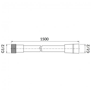 Dušo žarna Omnires 023 150cm 2