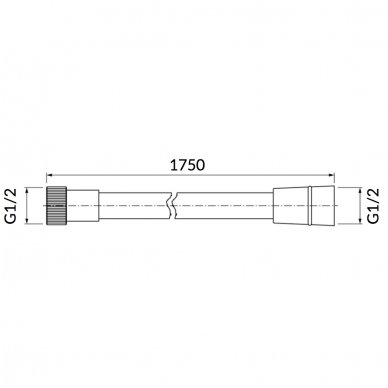Dušo žarna Omnires 024 175cm 2