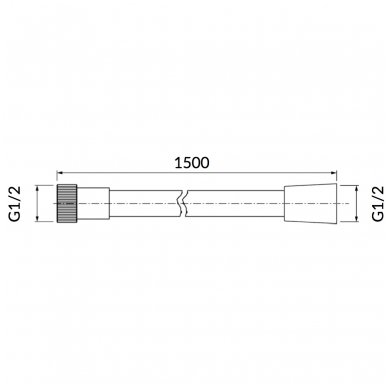Dušo žarna Omnires 028 ORB 150cm 2