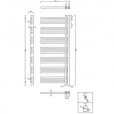 Elektrinis rankšluosčių džiovintuvas Sapho Dorlion 50x120cm