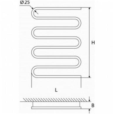 Elektrinis rankšluosčių džiovintuvas Elonika EE 800 S 3