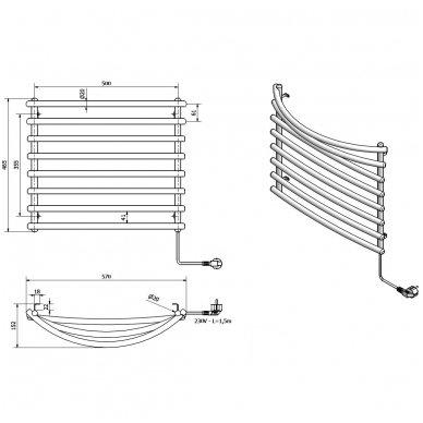 Baltas elektrinis rankšluosčių džiovintuvas Sapho SU110A 5