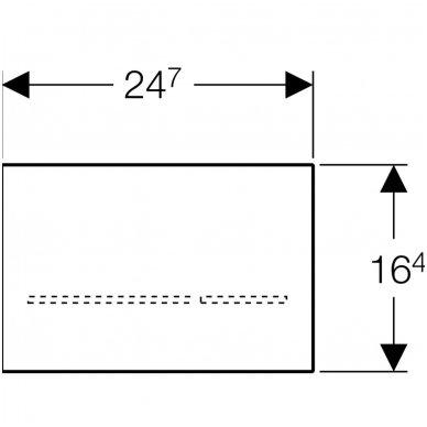 Elektroninis vandens nuleidimo mygtukas Geberit Sigma 80 4