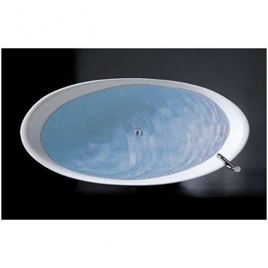 Galassia Pietraluce lieto akmens laisvai pastatoma vonia 3