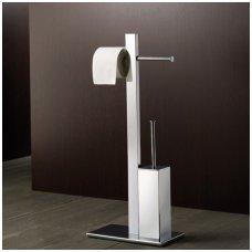 Gedy Bridge stovas su unitazo šepečiu ir tualetinio popieriaus laikikliu, chromuotas