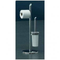 Gedy Karma stovas su unitazo šepečiu ir tualetinio popieriaus laikikliu, chromuotas