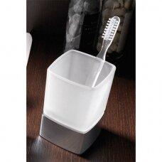 Gedy Lounge stiklinė dantų šepetėliams, chromuota