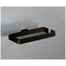 Gedy tinklinė lentynėlė muilui, 24,6x13,7 cm, juoda