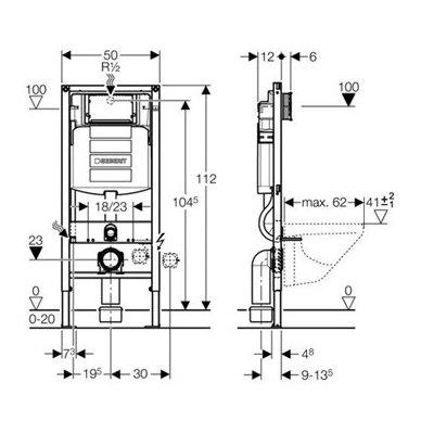 Geberit Duofix potinkinis WC rėmas 2