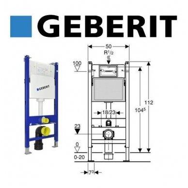 Geberit WC potinkinio rėmo DuofixBasic komplektas 3