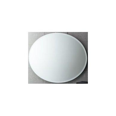 Gedy ovalus veidrodis, 75x55 cm, su facetu