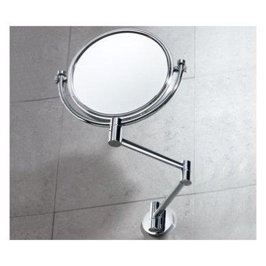 Gedy sieninis veidrodis (pakabinamas ir priklijuojamas), chromuotas