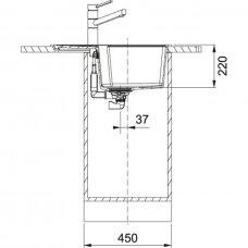 Granitinė plautuvė Franke Urban UBG 611-62 62x50cm