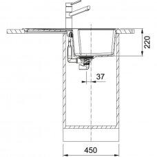 Granitinė plautuvė Franke Urban UBG 611-78 78x50cm