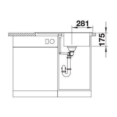 Granitinė plautuvė Blanco Classic 45 S (78x51 cm) 6
