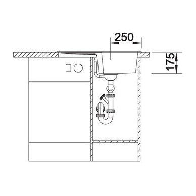 Granitinė plautuvė Blanco Enos 40 S (68X50 cm) 6