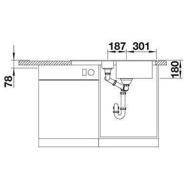 Granitinė plautuvė Blanco Favos 6 S (86x43,5 cm) 5