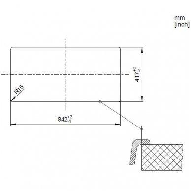 Granitinė plautuvė Blanco Favos 6 S (86x43,5 cm) 7