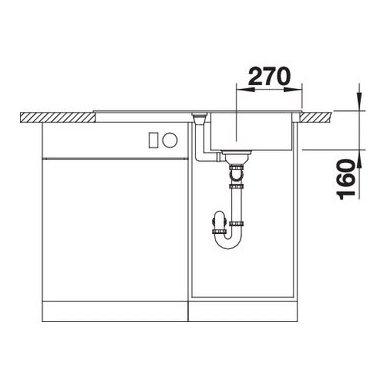 Granitinė plautuvė Blanco Favos Mini (86x43,5 cm) 6