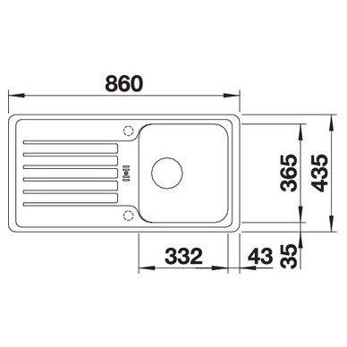 Granitinė plautuvė Blanco Favos Mini (86x43,5 cm) 5