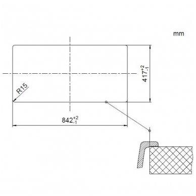 Granitinė plautuvė Blanco Favos Mini (86x43,5 cm) 8
