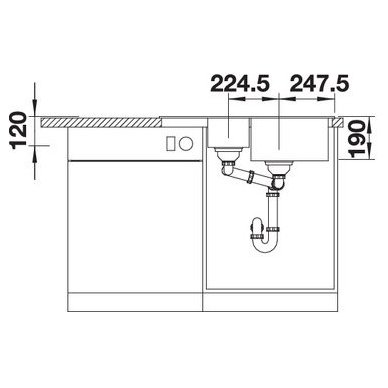 Granitinė plautuvė Blanco Legra 6 S Compact (78x50 cm) 7