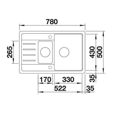 Granitinė plautuvė Blanco Legra 6 S Compact (78x50 cm) 5