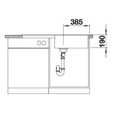 Granitinė plautuvė Blanco Zia XL 6 S (100x50 cm) 6