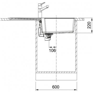 Granitinė plautuvė Franke Urban UBG 611-100 100x50cm 6