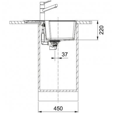 Granitinė plautuvė Franke Urban UBG 611-62 62x50cm 3