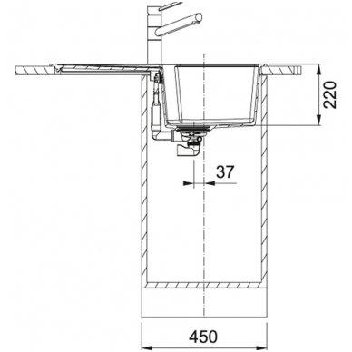 Granitinė plautuvė Franke Urban UBG 611-78 78x50cm 3