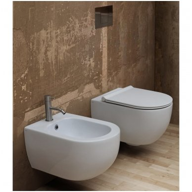 GROHE ir Alice Ceramica Unica RIMLESS su SLIM soft close WC komplektas 2
