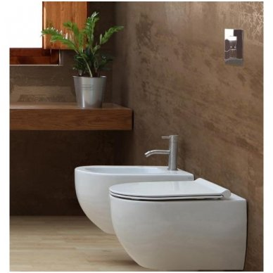 GROHE ir Alice Ceramica Unica RIMLESS su SLIM soft close WC komplektas 4